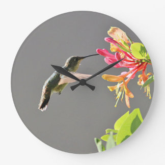 Hummingbird Large Clock