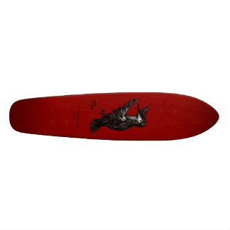 Hummingbird Logo Red Skateboard Deck