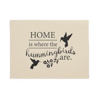 Hummingbird Lover Door Mat