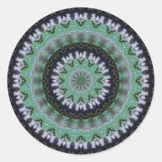 Hummingbird Mandala Classic Round Sticker
