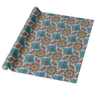 Hummingbird Mandala Design wrapping paper