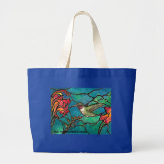 Hummingbird Melody Large Tote Bag
