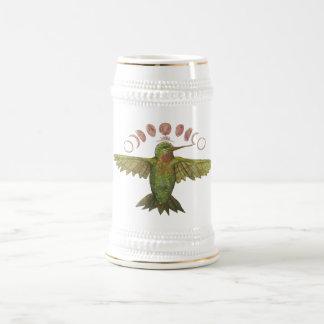 Hummingbird Moon Phase Beer Stein