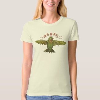 Hummingbird Moon Phase Organic Cotton Tee Shirt