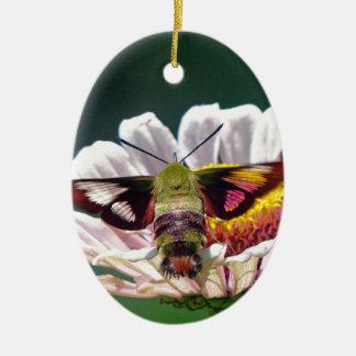 Hummingbird Moth Ceramic Ornament