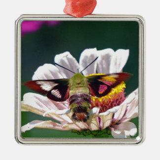 Hummingbird Moth Metal Ornament