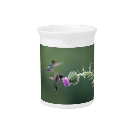 Hummingbird mug pitcher