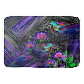 Hummingbird Night Flight Bath Mat