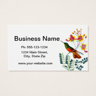 Hummingbird no. 9 housewarming gift business card