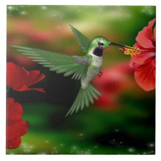 Hummingbird on a 6x6 Ceramic Tile