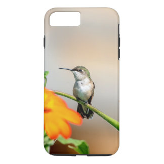 Hummingbird on a flowering plant iPhone 8 plus/7 plus case
