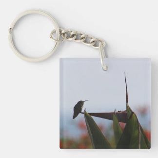 Hummingbird on Bird of Paradise Flower Keychain