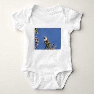 Hummingbird on Branch by SnapDaddy Baby Bodysuit