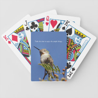 Hummingbird on Branch by SnapDaddy Bicycle Playing Cards
