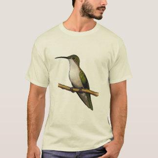 HUMMINGBIRD ON PERCH: Mixed Media Art T-Shirt