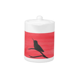 Hummingbird On Red