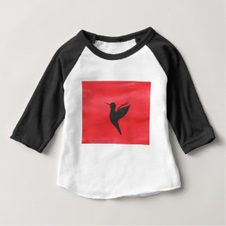 Hummingbird On Red Baby T-Shirt
