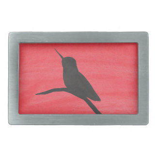 Hummingbird On Red Belt Buckle