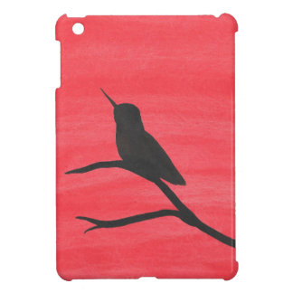 Hummingbird On Red iPad Mini Covers