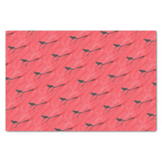 Hummingbird On Red Tissue Paper