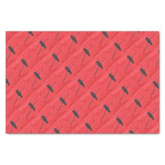 Hummingbird On Red Tissue Paper