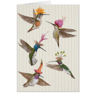 Hummingbird party card