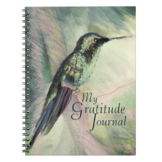 Hummingbird Pastel Fine Art Gratitude Journal