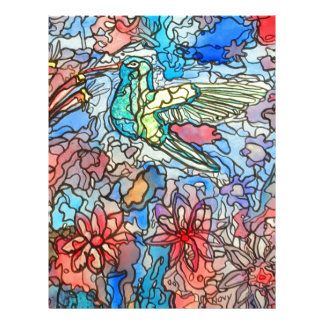 Hummingbird Personalized Letterhead