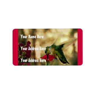Hummingbird Photo Label