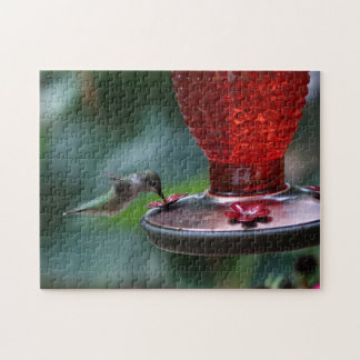 Hummingbird, Photo Puzzle. Jigsaw Puzzle