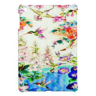 Hummingbird-Pink-Flowers iPad Mini Covers