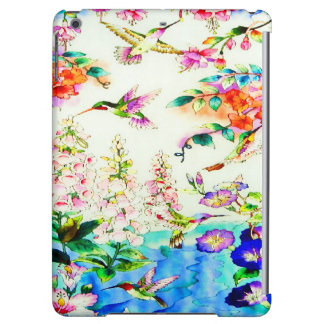 Hummingbird-Pink-Flowers Landscape iPad Air Case