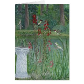 Hummingbird Pond Card