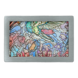 Hummingbird Rectangular Belt Buckle