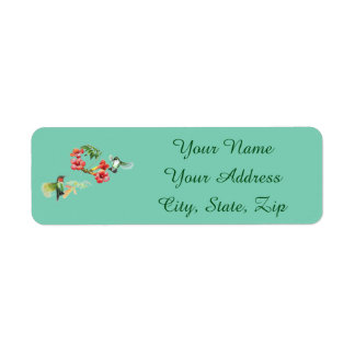 Hummingbird Return Address Label