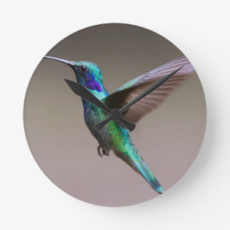 Hummingbird Round Clock