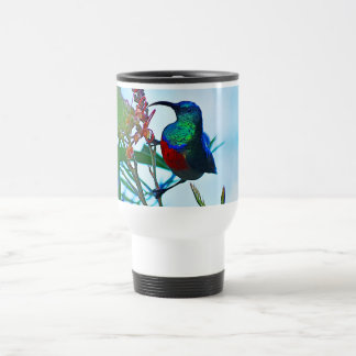 Hummingbird ruby throated travel mug