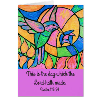 Hummingbird Scripture Card