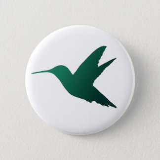 Hummingbird Silhouette Badge 2 Inch Round Button