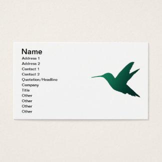 Hummingbird Silhouette Business Card