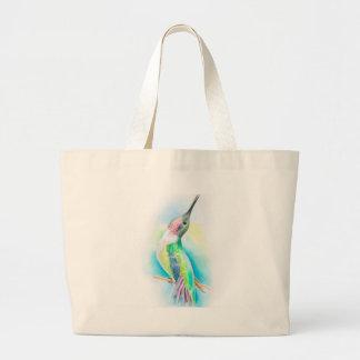 Hummingbird Singing Large Tote Bag