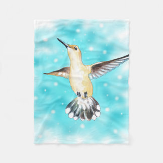 Hummingbird Sky Fleece Blanket