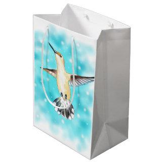 Hummingbird Sky Medium Gift Bag