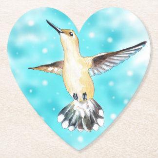 Hummingbird Sky Paper Coaster
