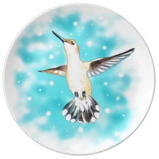 Hummingbird Sky Plate
