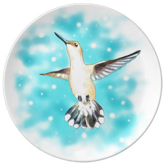 Hummingbird Sky Porcelain Plates