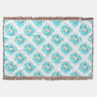 Hummingbird Sky Throw