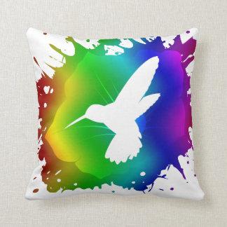 Hummingbird Splash Throw Pillow