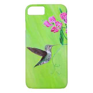 Hummingbird & Sweet Peas iPhone 8/7 Case