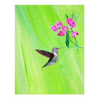 Hummingbird & Sweet Peas Letterhead
